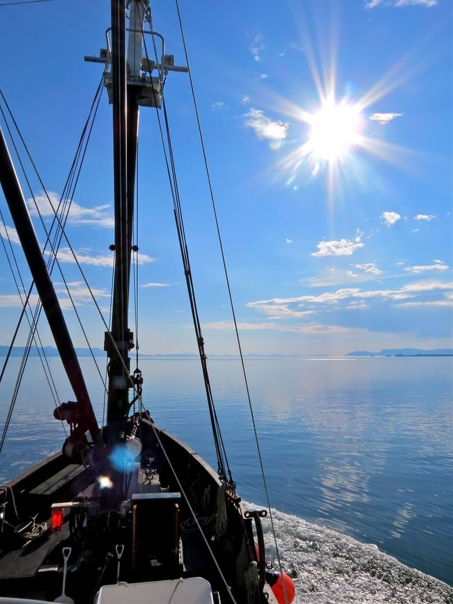 Frederick Sound Adventure Bound Alaska Beauty In Nature Calm Seas Commercial Fishing Nautical Vessel No People Summer Sun Sunbeam The Great Outdoors - 2016 EyeEm Awards The Great Outdoors With Adobe Tranquil Scene