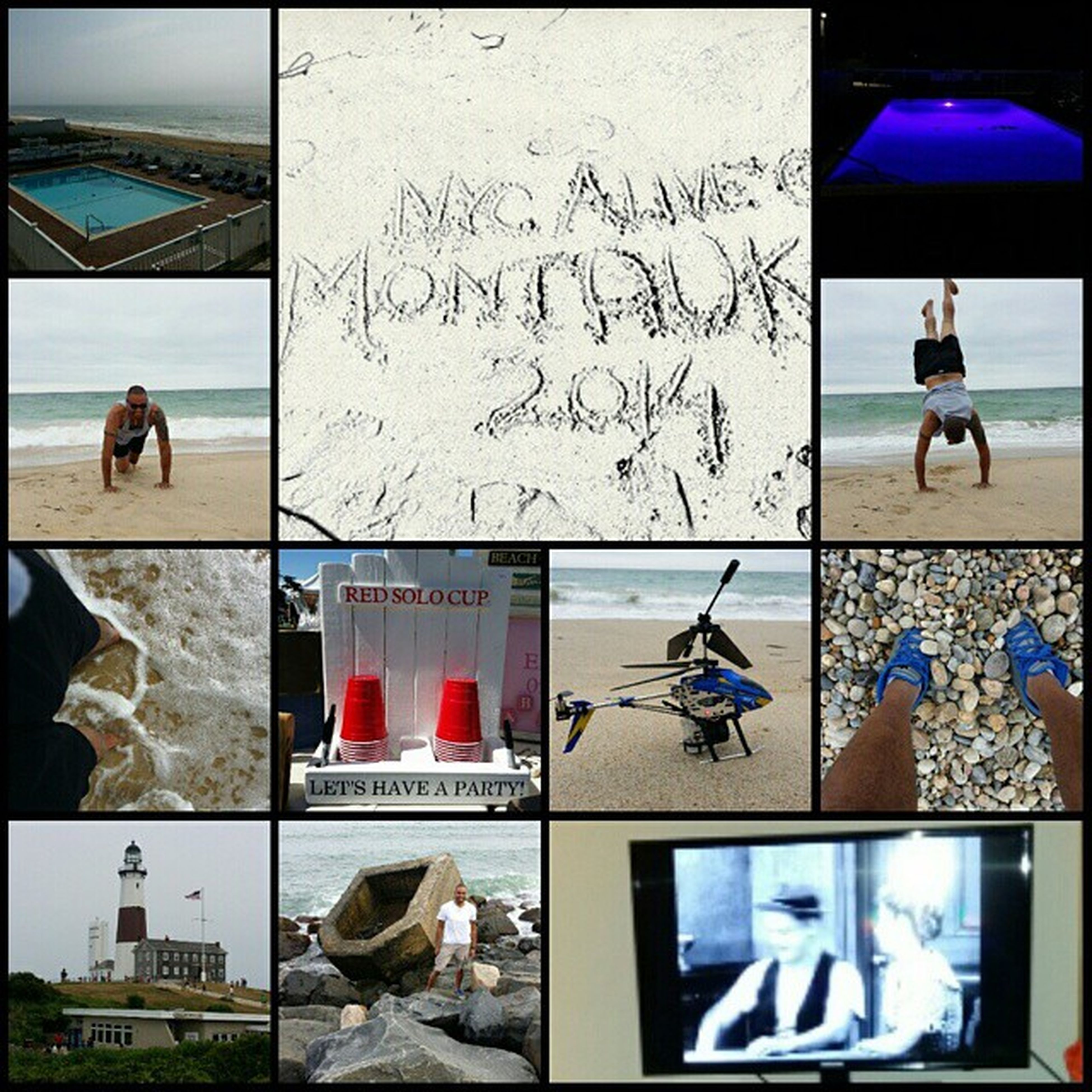 Had a great time in Montauk this weekend. Ended my night with some honeymooners. Lol Nycalive Montauk2014 Labordayweekend Laborday muchneededvacation stressfree beach pool lighthouse cliffwalk honeymooners handstand pushup solocups beerpong rchelicopter funtimes greattimes goodtimes goodweather laughs suninmyface saltwaterpool ineedanothervacation toesinthesand longisland li