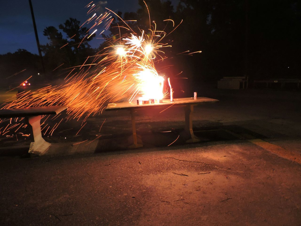 Firework Exploding On Table