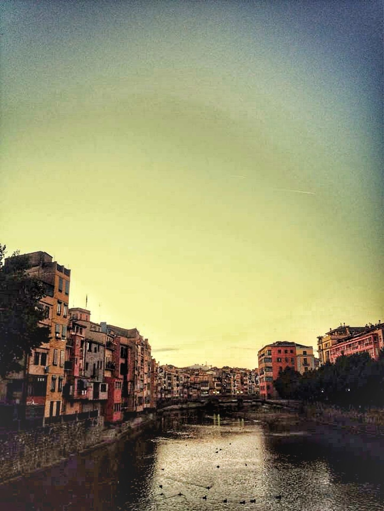 Early Morning Girona SPAIN Traveling Walking Around Kiwi Clicker Good Morning! Morning Sky Walking Around The City  Buildings Riverside
