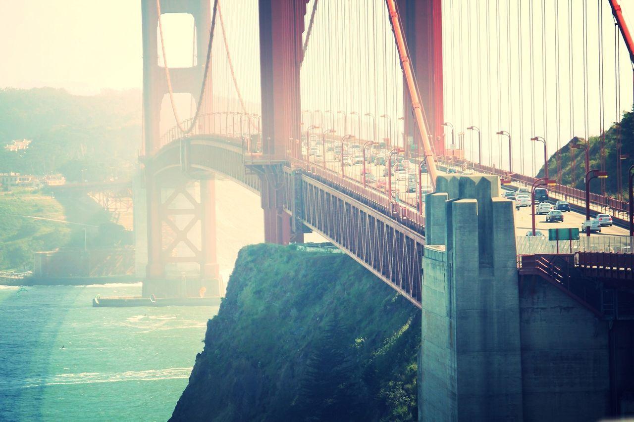 Beautiful stock photos of san francisco, Bay Of Water, Bridge - Man Made Structure, Built Structure, Car