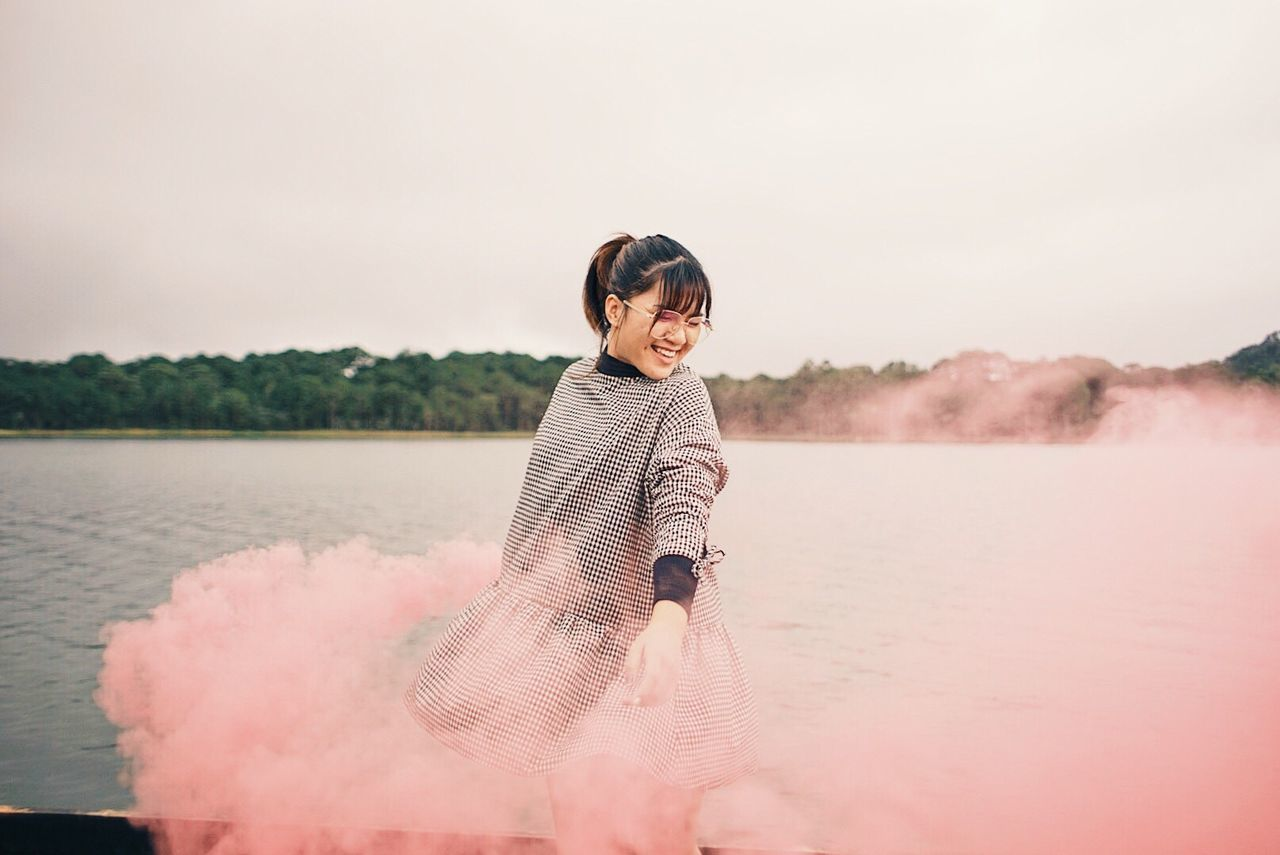 Finding New Frontiers Smoke Smoke Bomb Chill Chilling Trip Hanging Out Old Town Hipster Beautiful Place Travel Destination Da Lat Vietnam Beautiful Day Millennial Pink
