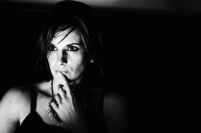 Black & White Blackandwhite Photography Only Women One Person Adults Only Contemplation One Woman Only Serious Young Adult Beautiful Woman Adult Headshot