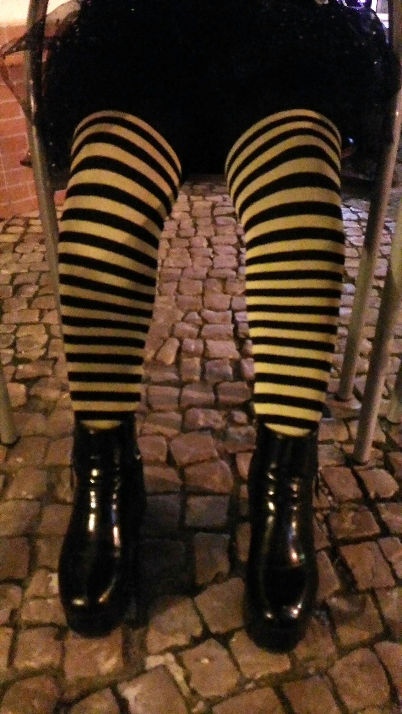 Color Contrast Colorful Socks Colors Of Carnival Carnival Eye4photography  Party Time Cobblestones Cobblestone EyeEm Gallery EyeEm Best Shots Check This Out Details Black Boots Yellow And Black Enjoying Life Having Fun Under The Table Relaxing Relaxing Moments Yellow Socks Showcase: February Week On Eyeem Two Legs At Night Bright Colors