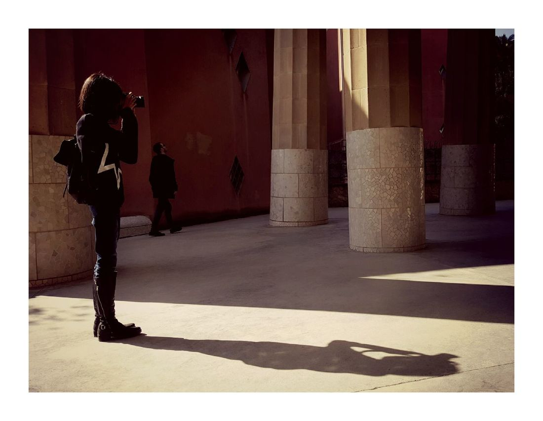 Women Gaudi Guell Monumental Zone Photographic Memory Barcelona, Spain Barcelona Guell Park Shadow Shadows & Lights