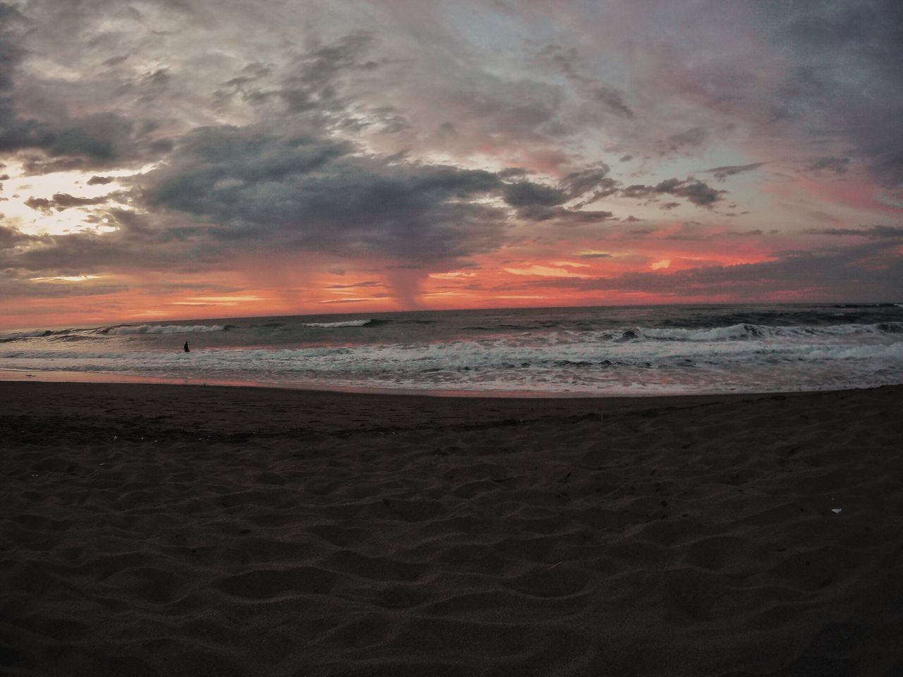 beach, sand, sea, sunset, shore, horizon over water, sky, beauty in nature, nature, tranquility, cloud - sky, scenics, tranquil scene, water, no people, wave, outdoors, day