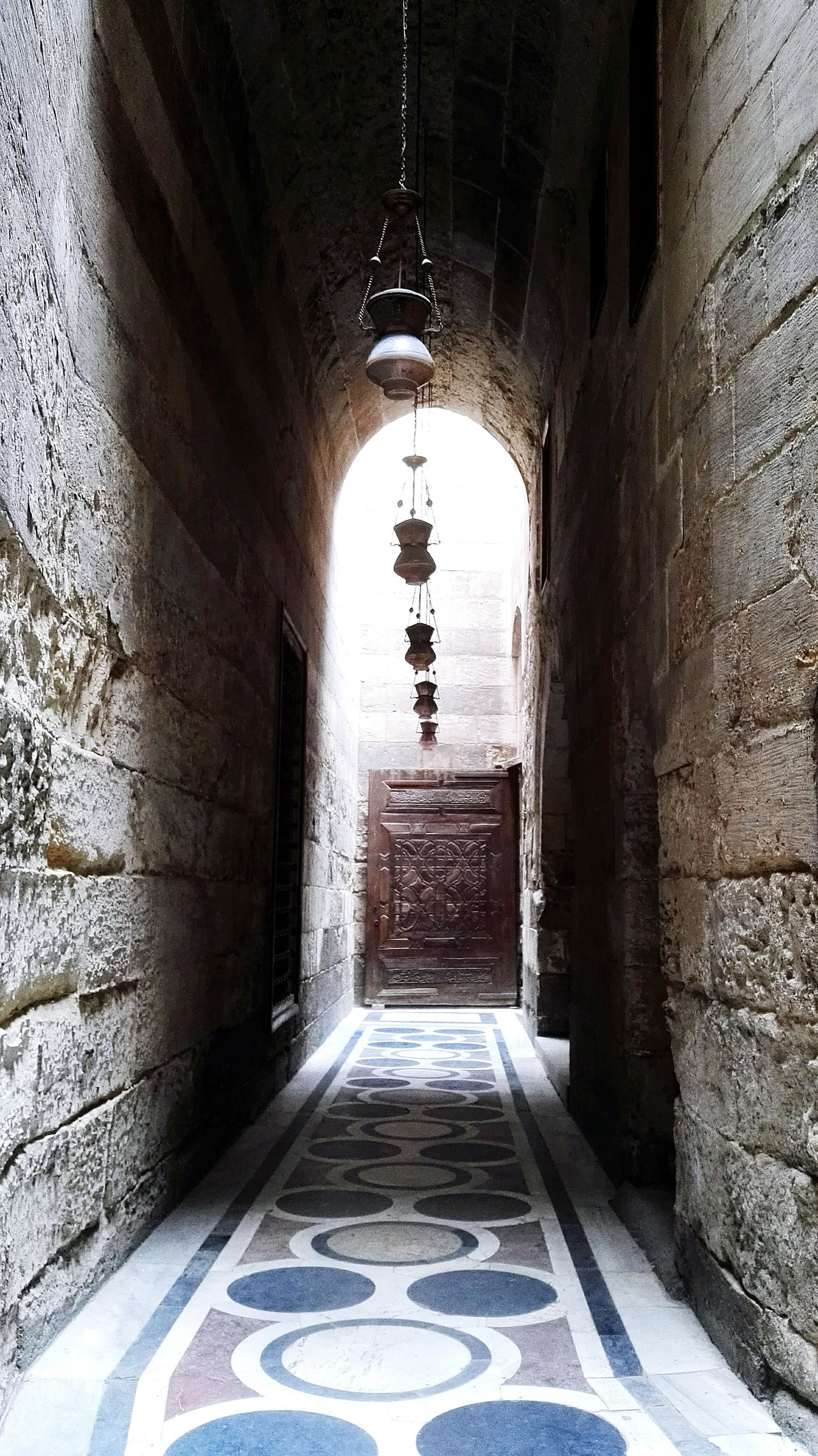 You should see the light at the end of road..... Indoors  First Eyeem Photo Building Exterior Built Structure History Arch Architecture Architectural Historical Buildings El Mu'ez Architecture