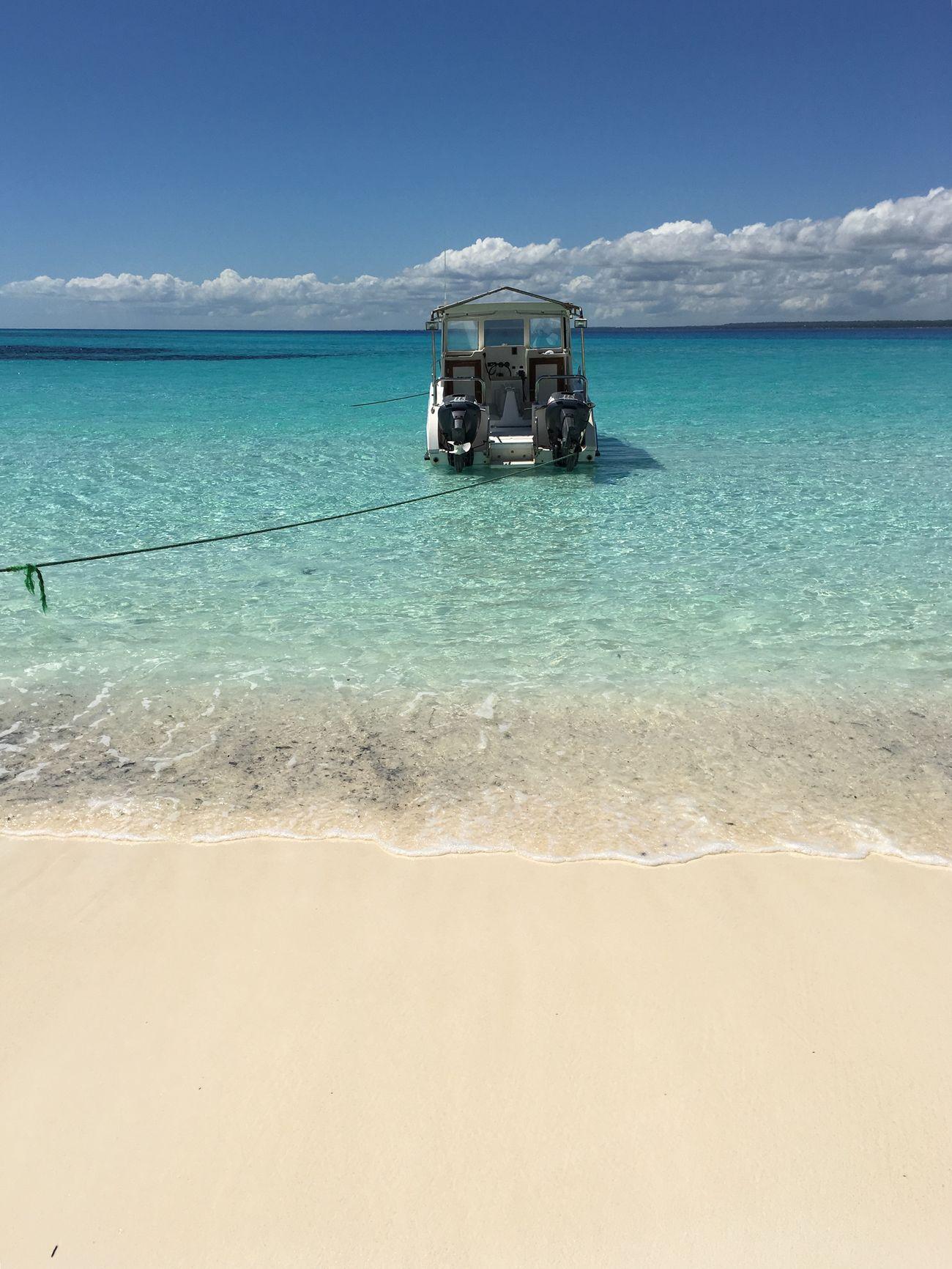 Boat Mnemba Island Indian Ocean Zanzibar Tanzania