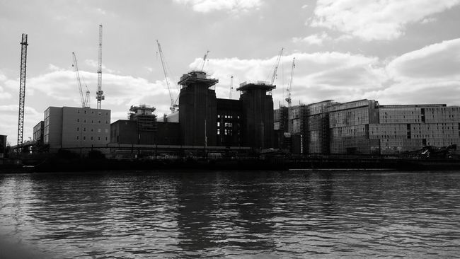 View from the Thames Battersea Power Station London Thames River