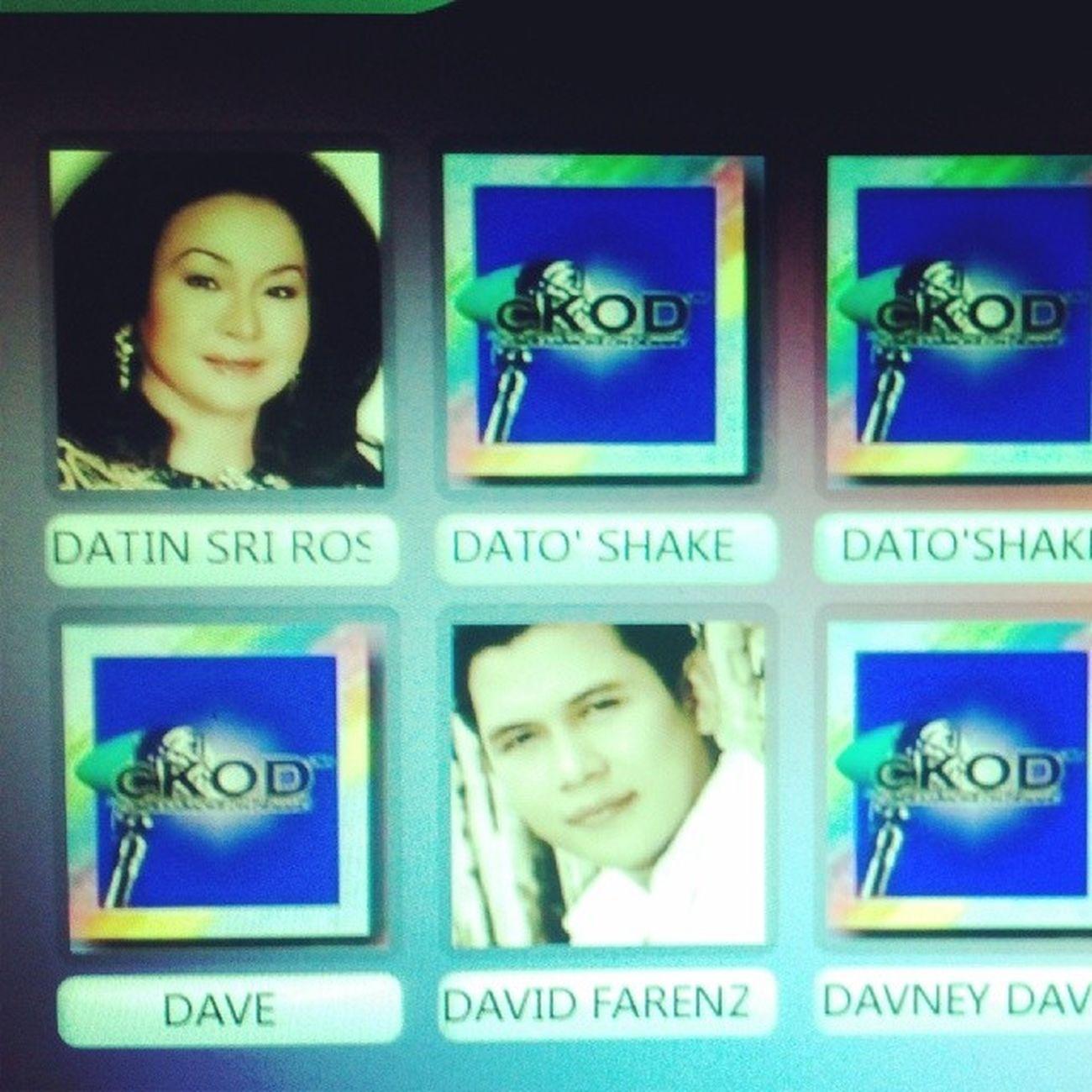 Look who I met in Karaoke list! Ok kensel karaoke. Ini semua tanda2 utk quit karaoke ni. Lol. BikMama