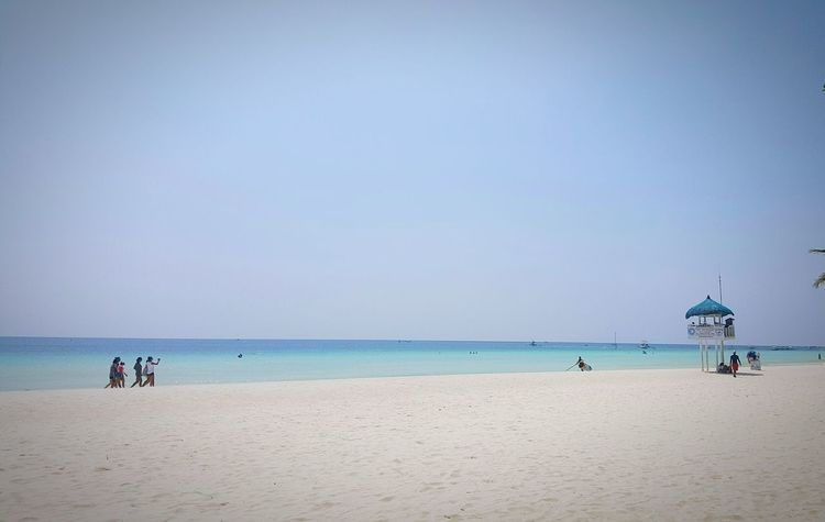 Beautiful White Sand Beach on BoracayIsland whoever said that Itsmorefuninthephilippines was just so right