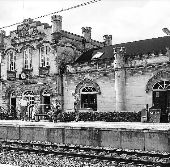 Public Transportation Canon EOS 1300D Fresh On Eyeem  City Life Historical Building Railroad Station Station Valkenburg Streetphotography Black & White Blackandwhite Photography On The Way People Together