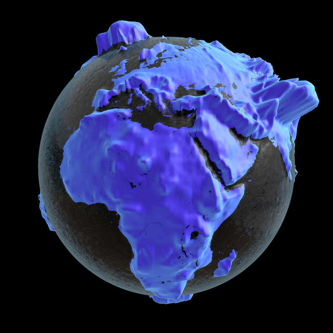3D rendering: planet earth 3D 3d Rendering Africa Altitude Altitude Profile ASIA Blue Continent Continents Earth Europe Global Globe Planet Planet Earth Purple Purple Color Rendering Terrestrial Globe World World-wide Worldwide