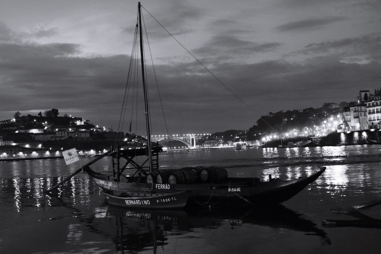 Sky Water Nautical Vessel Transportation Moored Cloud - Sky Reflection Mode Of Transport No People River Outdoors Nature Built Structure Harbor Architecture Mast Sailboat Beauty In Nature Day Yacht Porto Douro  Douroriver
