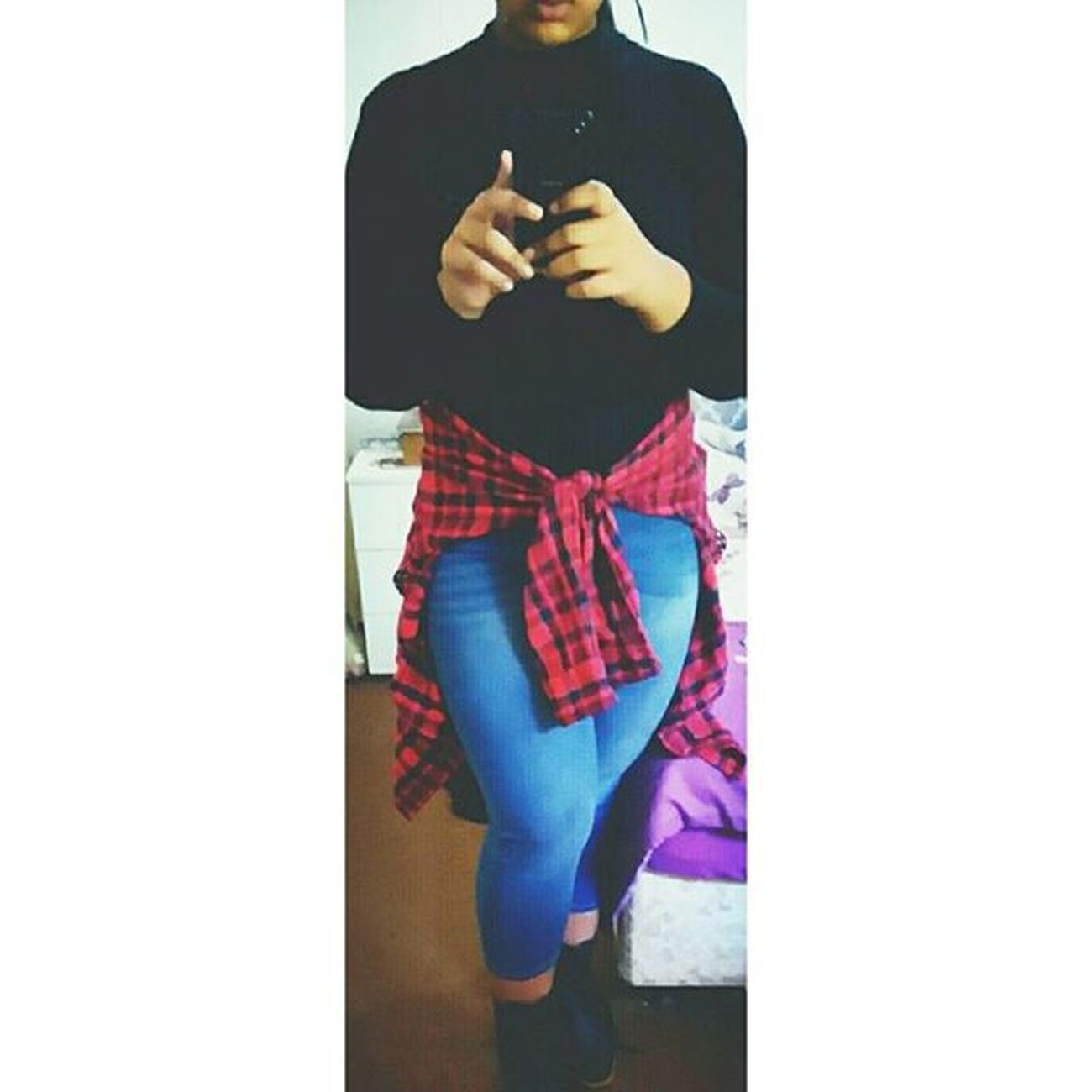 """Please don't take this personal, but you ain't shit."" 💣 - Jhenè Aiko Jhenè_aiko Beautiful Me Outfit Red_shirt Black_top Jeans Boots Cute Tumblrific Tumblr_girl WOW Winged_liner_for_days Sony_M4_Auqa Newest Yep Ok Boom Aint_no_bae"