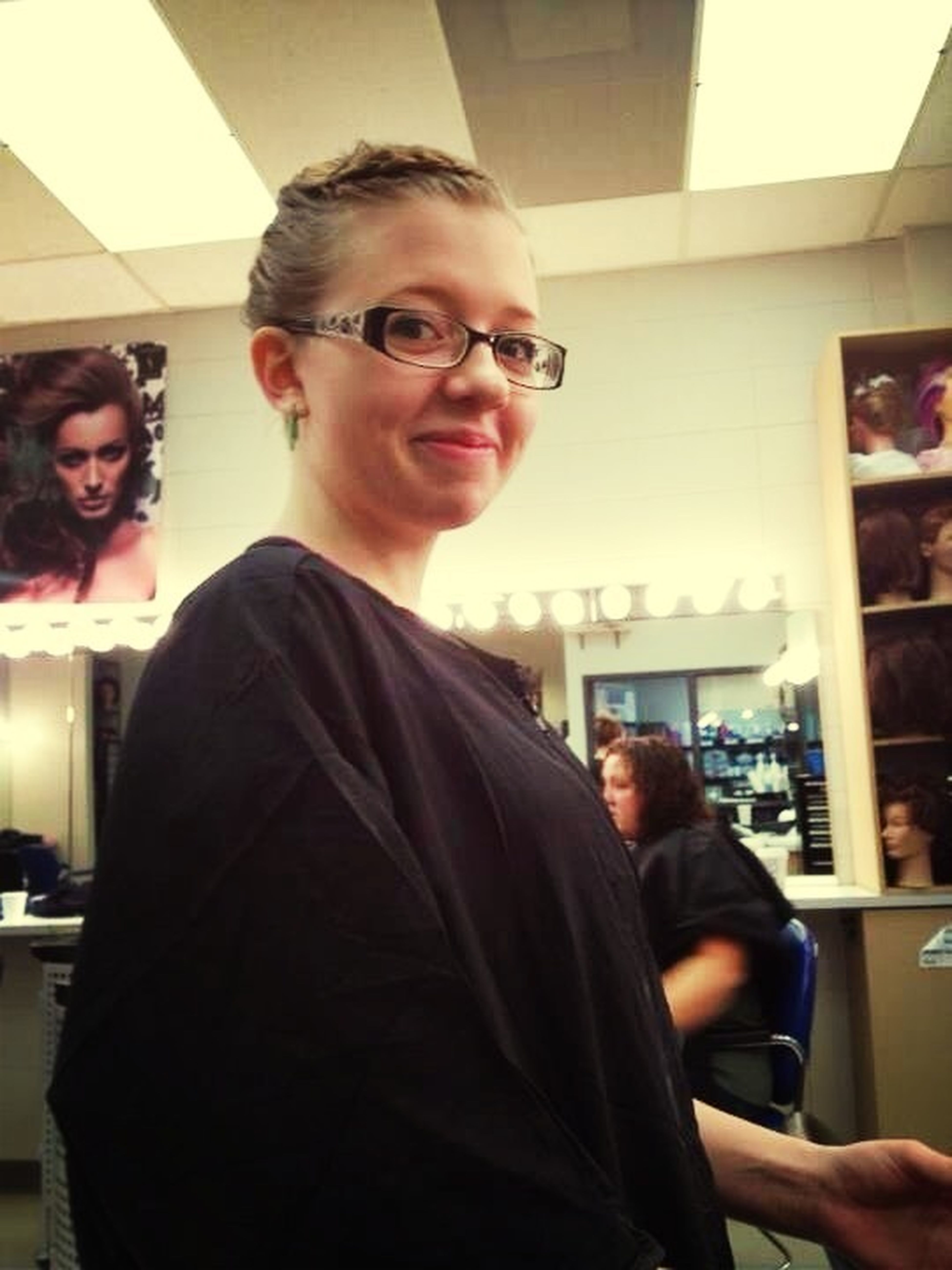 Lol I Look Gross, But Me Doing A Perm Today!