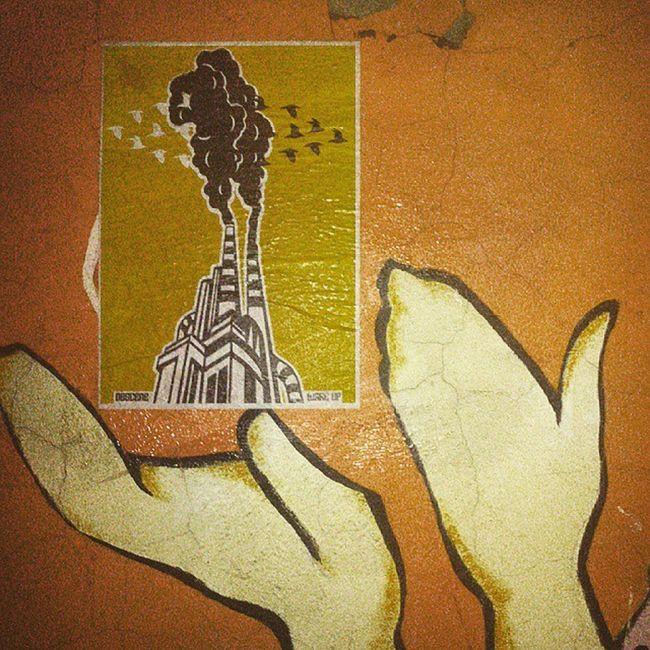 Here i represent you my cause. Streetart Streets Ob5cene Pasteup Wheatpasteart Wheatpaste Wheatglue Airpollution Rightnow Artofthenight mashhad Mashhadart Streetart_mashhad