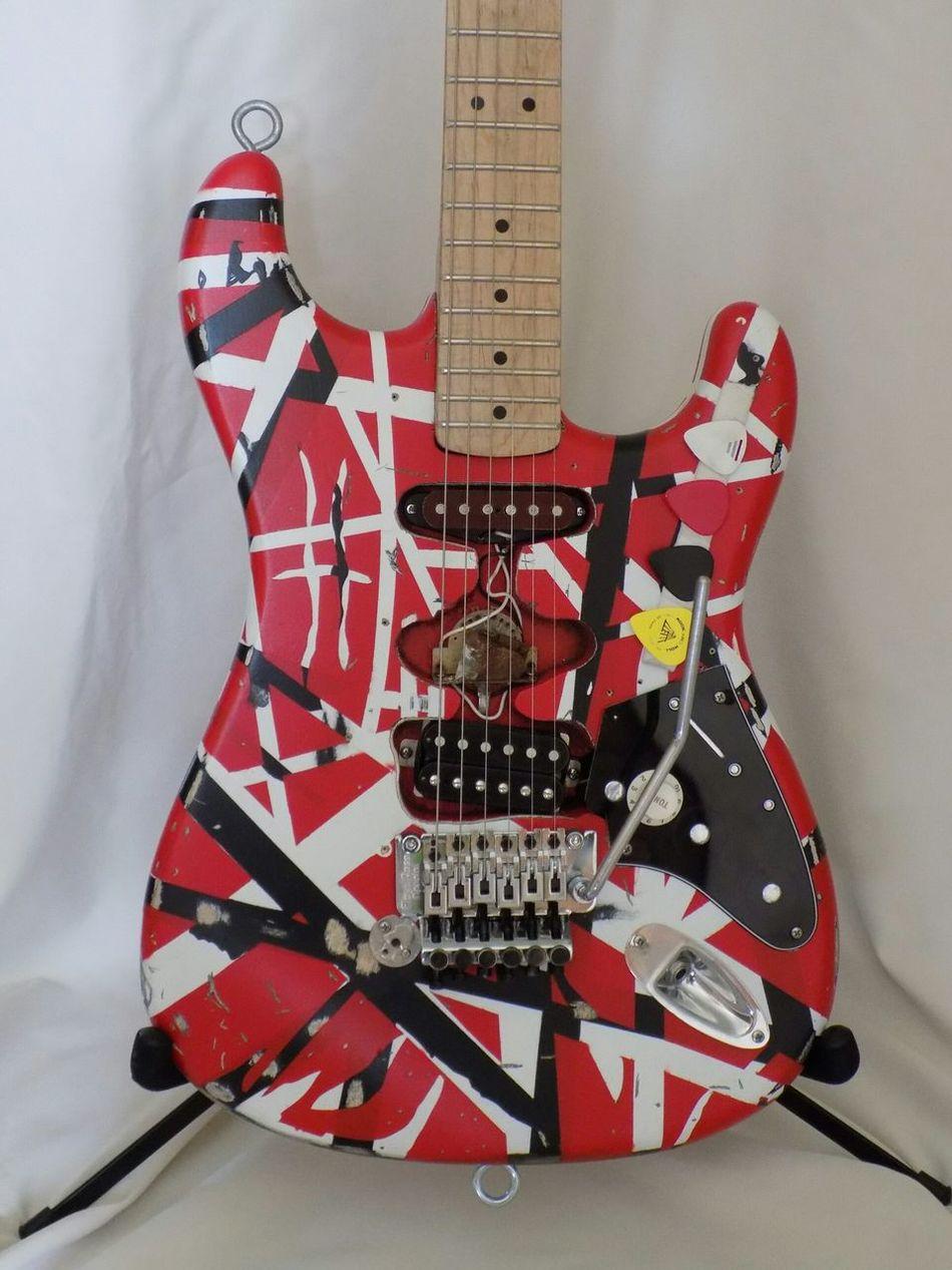 Replica I made of Eddie Van Halen's Frankenstrst guitar 1982 Eddie Van Halen Van Halen Rock'n'Roll Electric Guitar Homemade Craftsmanship  Music Musician Hardwork