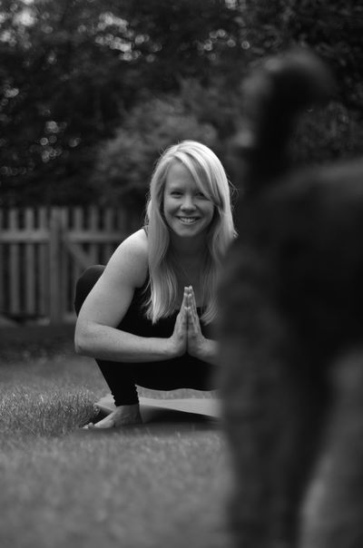 Yoga teacher and her dog Lifestyles Young Women Smiling Selective Focus Portrait Welshterier Monochrome Dog Domestic Animals Yoga Yogateacher Yogaeveryday Yogaeverywhere Yogadog Looking At Camera Relaxation Weekend Activities Welshterriër Pets Yogagirl Noedit Nofilter Yogapractice Yogapose People And Places