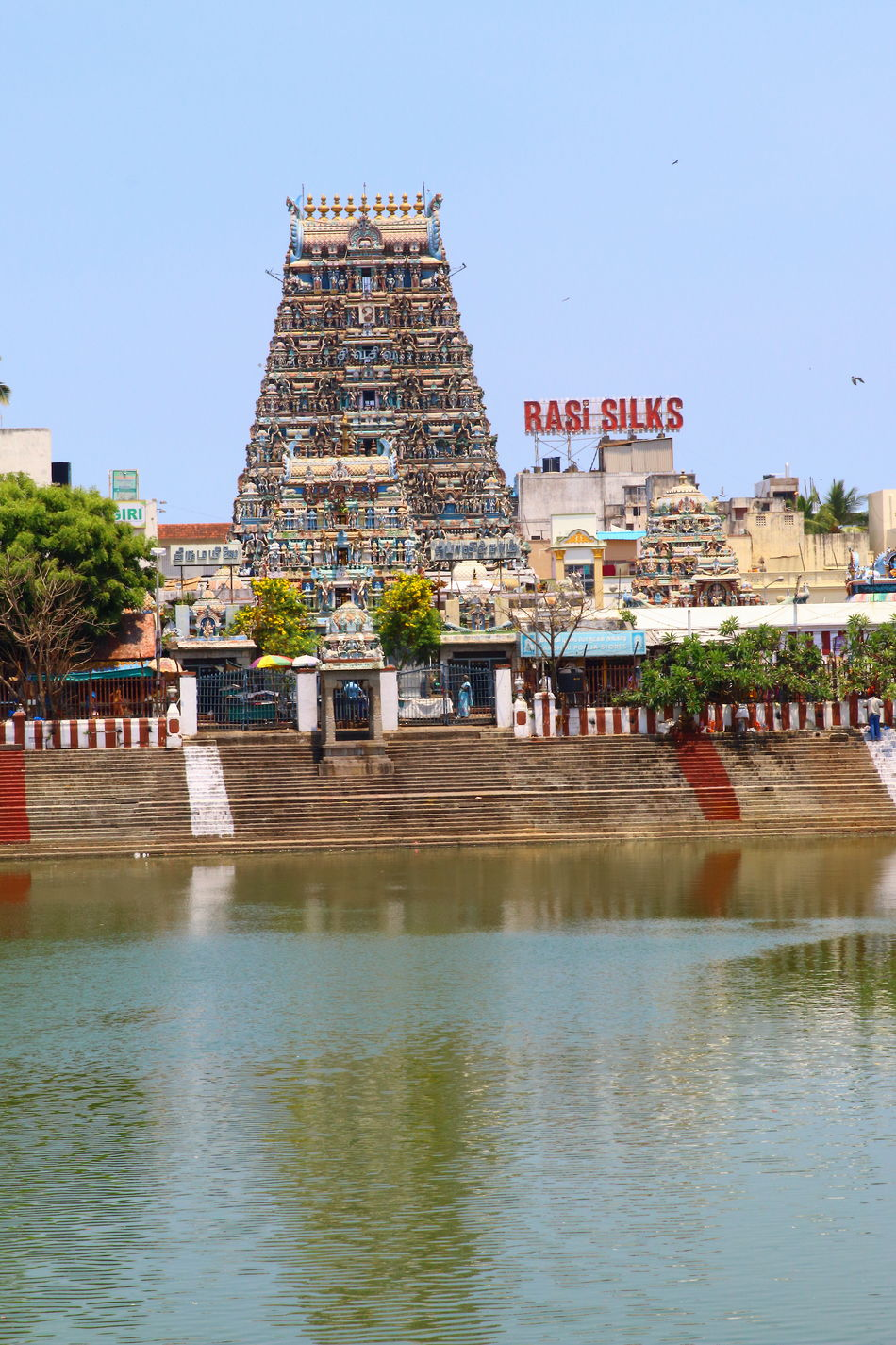 Kapaleeswarar Temple,Mylapore,Chennai,India Architecture Built Structure Chennai,India Kapaleeswarar Temple Lifestyles Mylapore Paulvadivu Roadside St Temple Pond Tourism Water