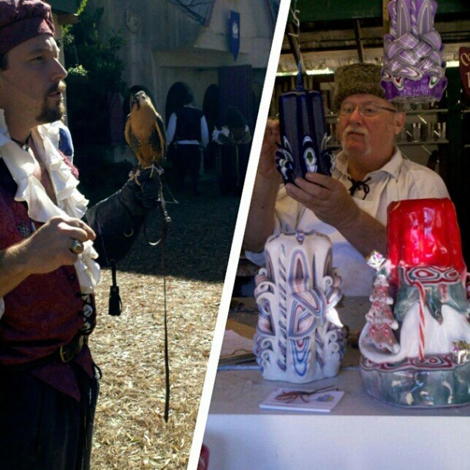 Candle making and falconry *-*