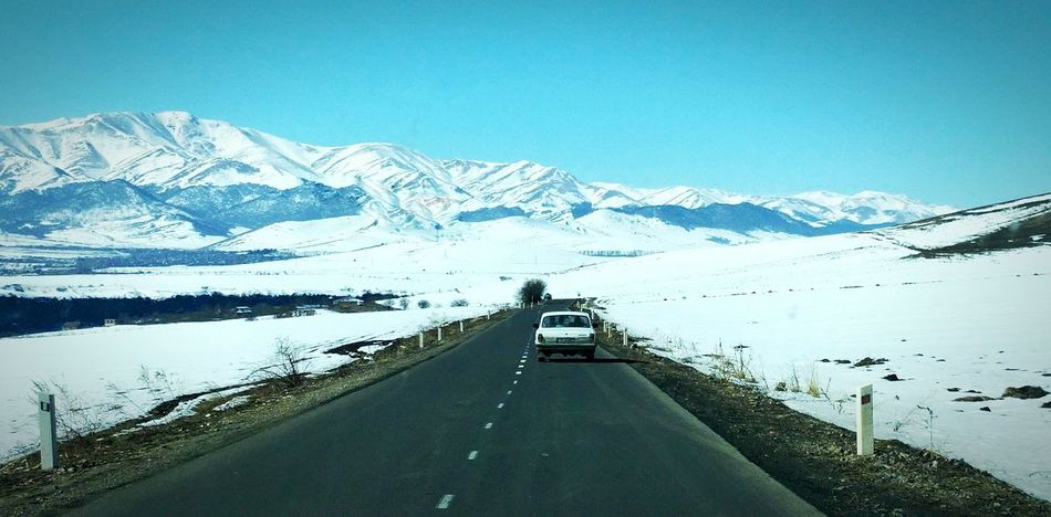 Crossed into Armenia and amazed Armenia Snowcapped Mountain Snow WOW Epicshots Travel Destinations Traveladdict Caucasus Ontheroad Mountain Landscape Travel Photography Armenian Wanderlust Traveltheworld Cold Temperature Blue Nature Beauty In Nature Outdoors Scenics Winter Frozen Polar Climate Sky