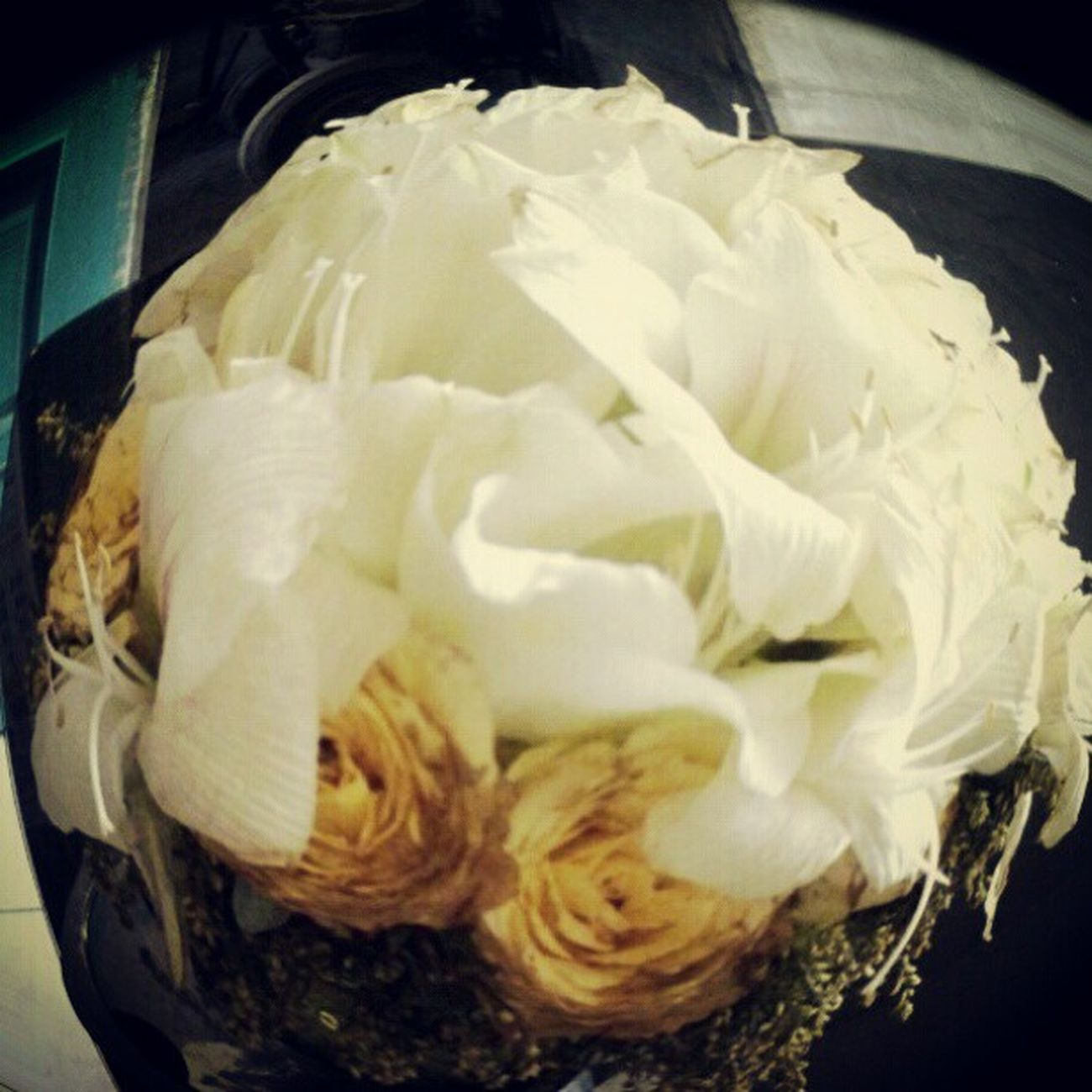 Yo, flowers! Yo still alive? haha Akonadawnxt Wedding Flower Bride 's Boquet Fisheye