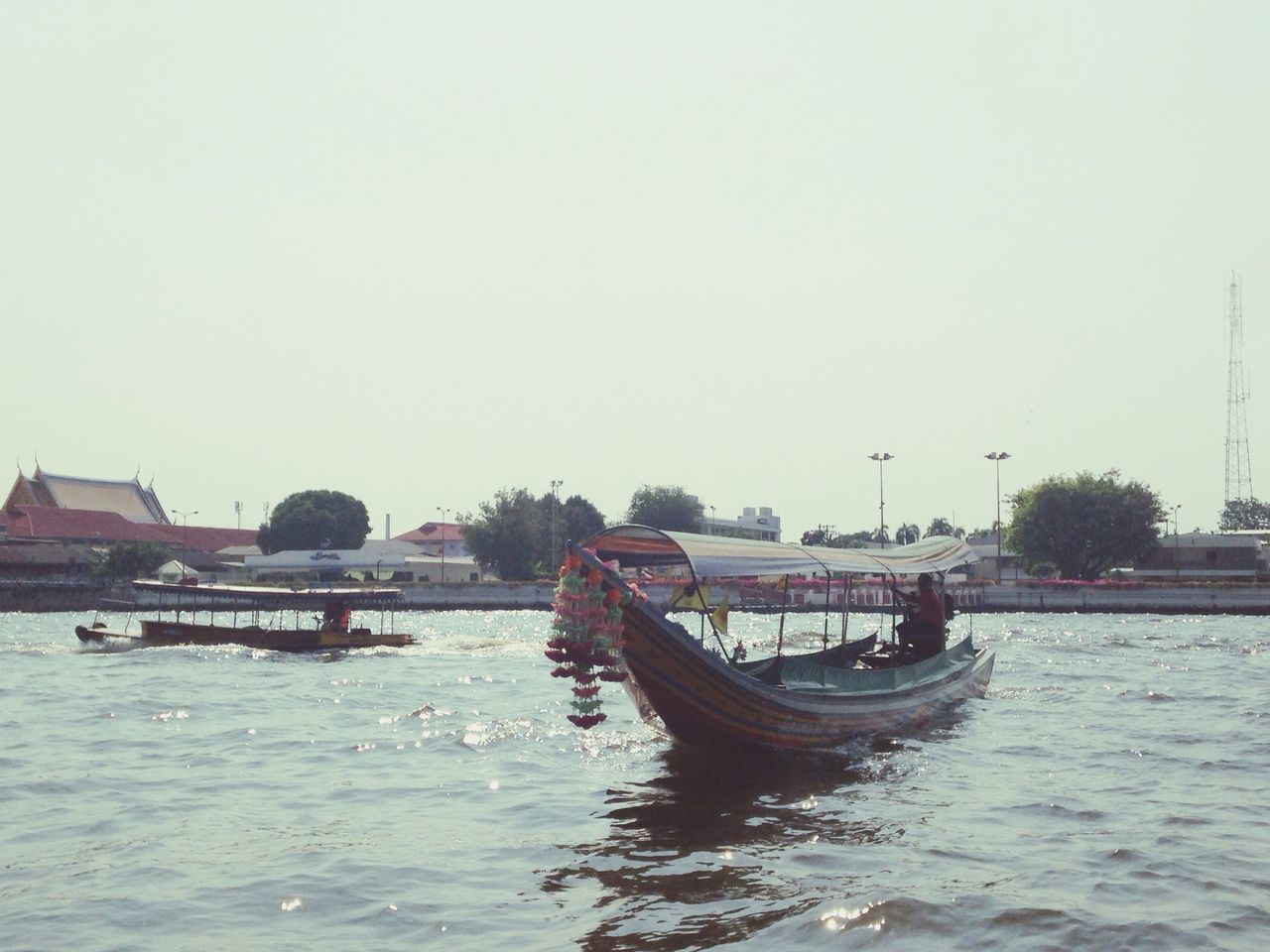 Floating boat Long Tail Boat Chao Phaya River Afternoon Wait For Customer Floating Swing By Wave Ready To Take Off Bangkok Thailand Spotted In Thailand The Great Outdoors - 2016 EyeEm Awards