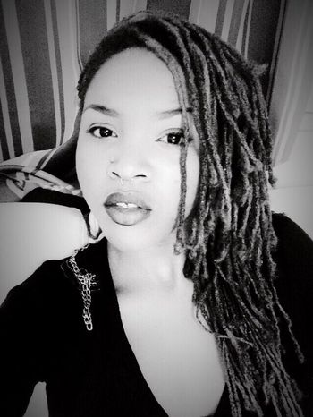 That's Me Black & White Dreads Self Portrait Beautiful