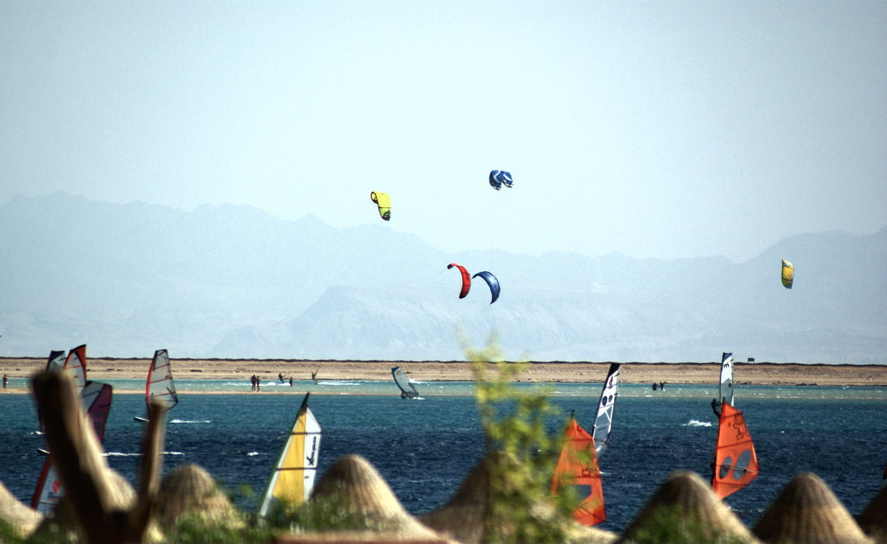 Beach Day Flying Kitesurfing Landscape Lifestyles Mid-air Mountain Nature Outdoors Scenics Sea Sky Sport Water Windserfing The Great Outdoors - 2017 EyeEm Awards