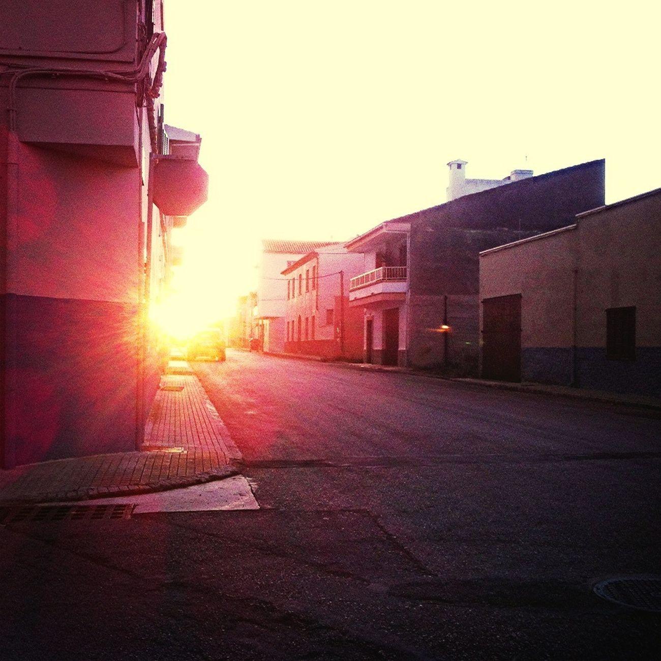Sun Behind Corner