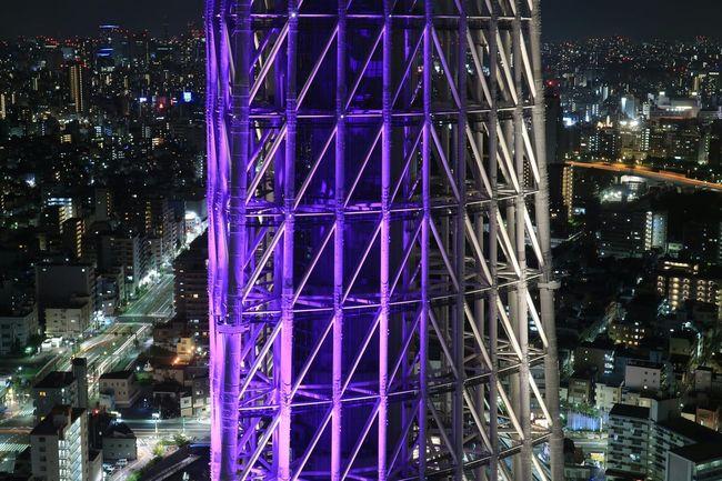 Illuminated Night Urban Skyline Lighting Nightscape Tokyoskytree Night View Japan TowerNightphotography Landscape Skytree Tokyo