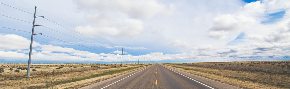 Cable Cloud - Sky Day Landscape Nature No People Outdoors Road Rural Scene Scenics Sky Telephone Line The Way Forward Transportation