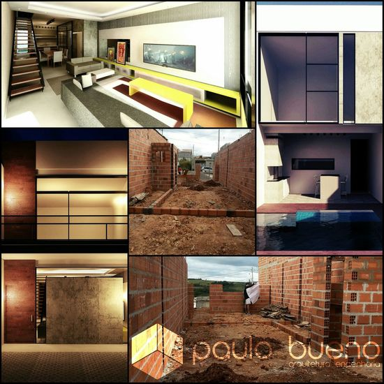 Saindo do Papel, Residência 5X25m Architecture Brazil Visiting Arquitetos Working Revit  Happy Construction Arquitetura