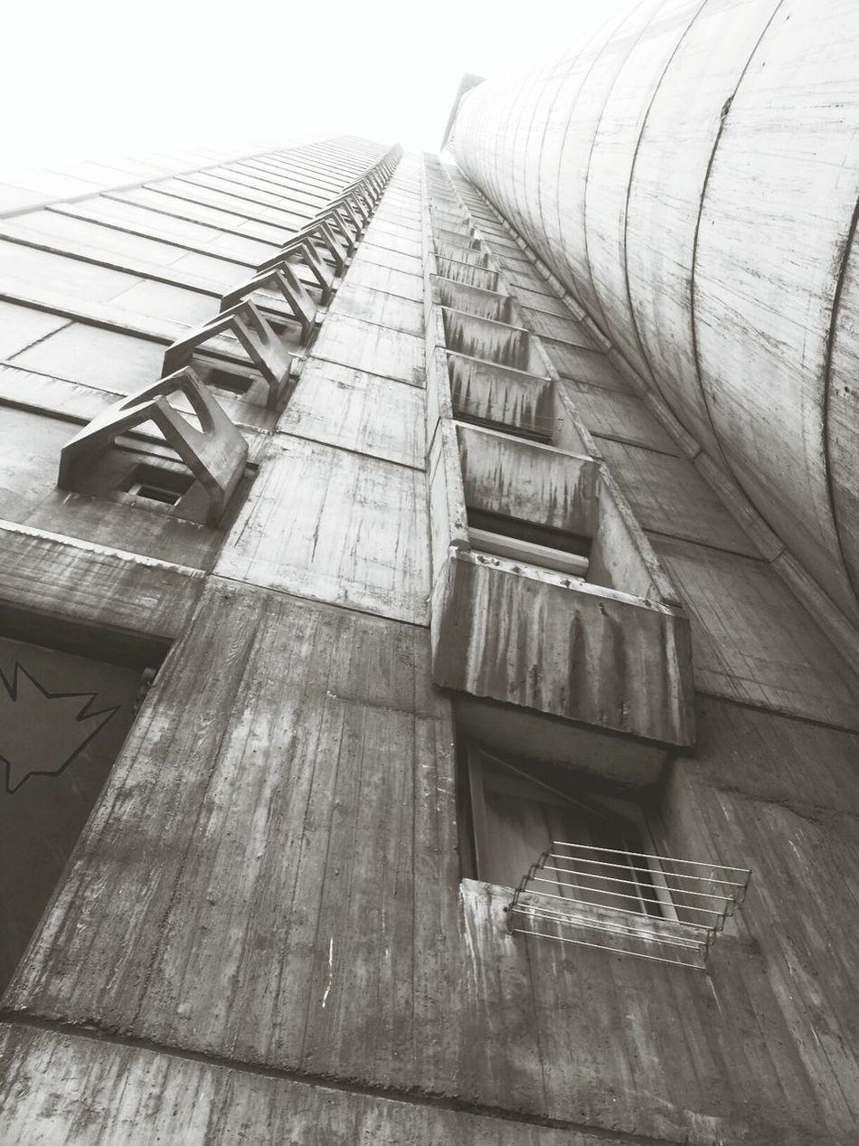 Building Architecture Black & White Lookingup