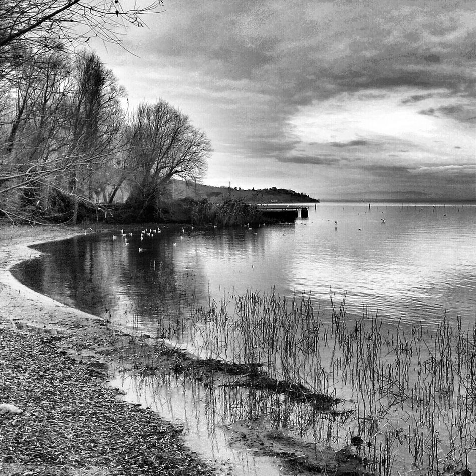 Hanging Out Clouds Water Nature Sky Black And White Landscape Taking Photos Lake Italianeography Nature_collection Eye4photography
