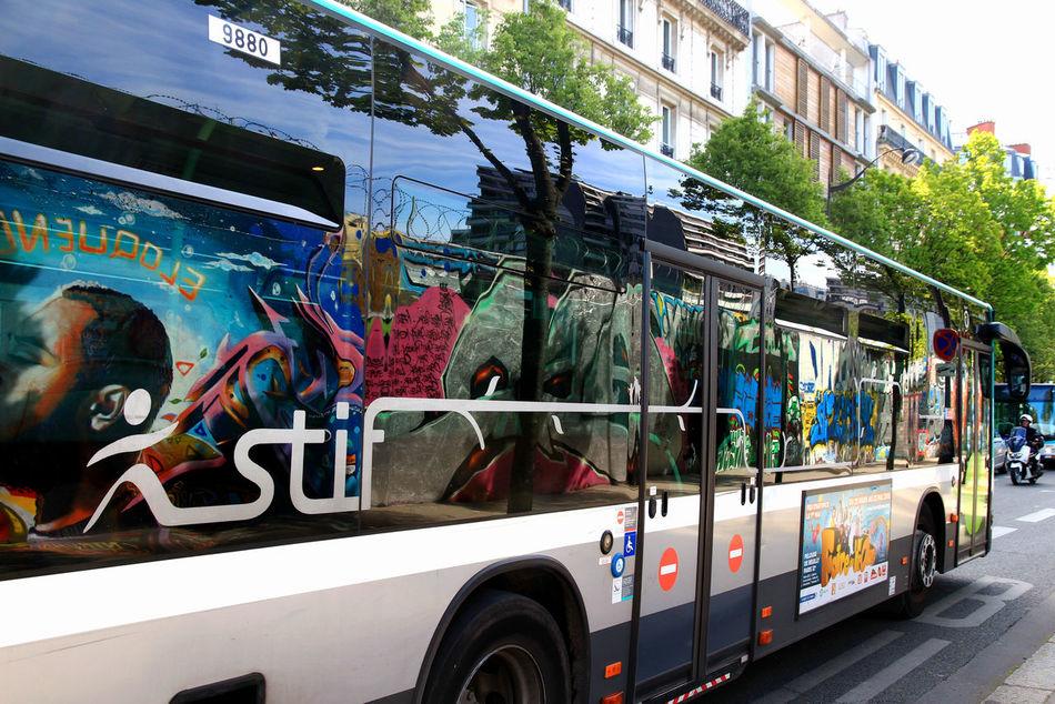 Bus Window City City Bus Graffiti & Streetart Graffiti Art Grafitti Mode Of Transport Outdoors Reflection Transportation