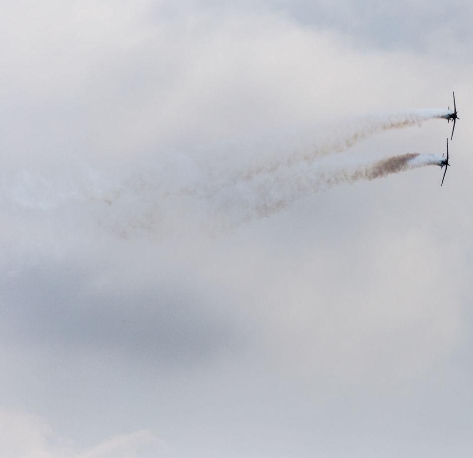 Aerobatics Aircraft Airshow AT-6 Aviation Beechcraft Day Flight Fly Military Sky Smoke Texan II Trails