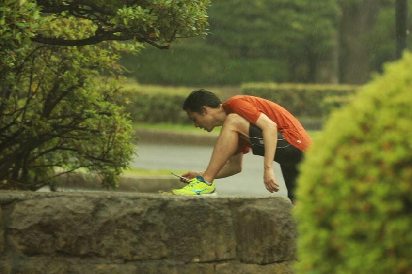 Tree Day Outdoors Leisure Activity Side View Jumping Sport Nature Japan Jogging Taking A Picture Sneakers