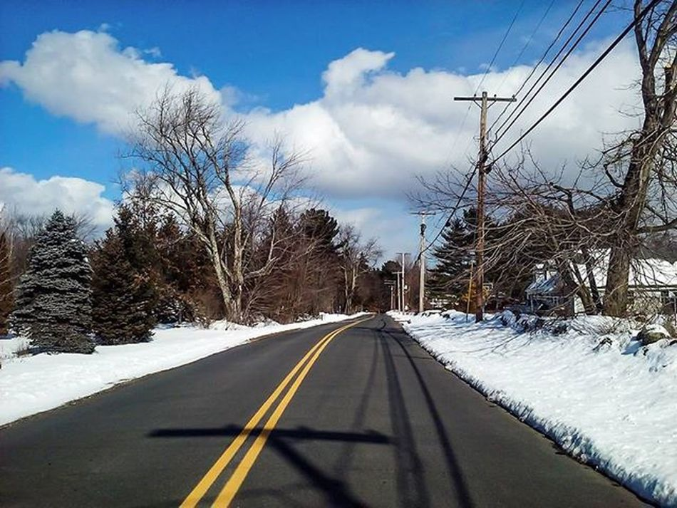 Wind chill has no chill. Nochill Tundra Cold Winter Bluesky New Hampshire New Hampshire Winter New England  Country Road Highway Trees And Sky