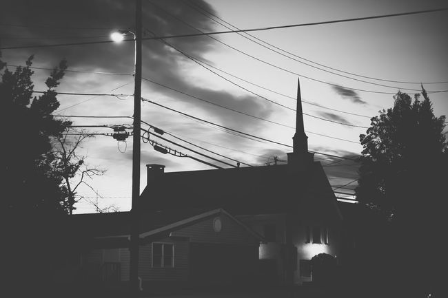 Every photographer nightmare. .. electric wires blocking our view everywhere. .. since we can't do anything about that lets Turn Lemons Into Lemonade ! :)) Wires EE_Daily: Black And White Night Photography
