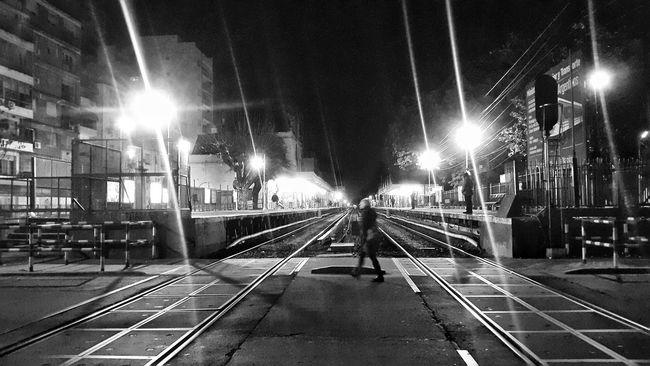 Nightphotography Night Photography Night Lights Train Tracks Train Station Night Life Streetphotography Streetphoto_bw Black And White Black & White Black And White Photography Night View Station Platform Train Platform