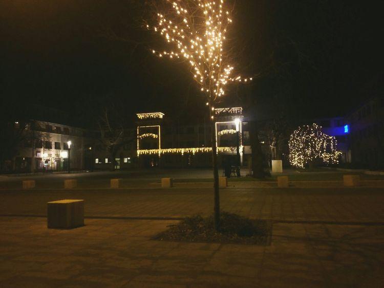 Dabas Night Lights Városháza Beautiful Christmas
