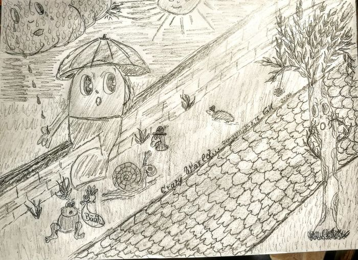 """Tonight I have my funny time...so I drawed a little crazy World..."""" Crazy World""""...see the small things...enjoy...;-) :-) Check This Out Cheese! Relaxing Fine Art Drawing Art, Drawing, Creativity Pivotal Ideas Picturing Individuality Crazy World Crazy Drawing Funny Lol :)"""