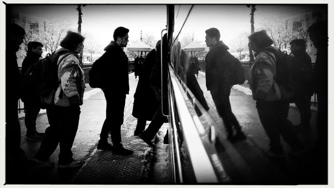 Prepare to be boarded. Winter Streetphotography Chicago Photojournalism EyeEm Best Shots Eye4photography  My Daily Commute Documentary Check This Out Showcase: November