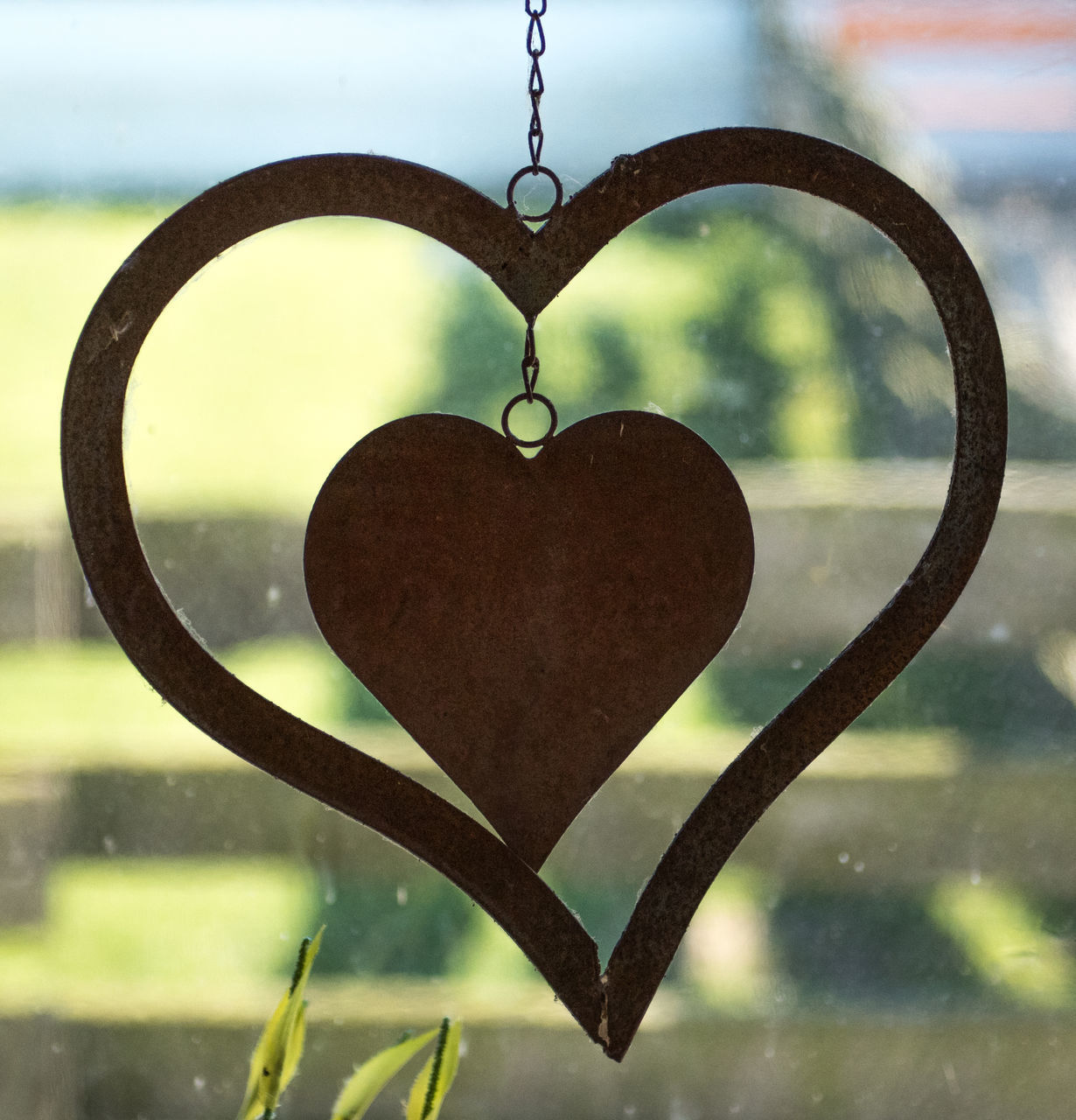 heart shape, love, no people, day, close-up, hanging, focus on foreground, outdoors, water, sky