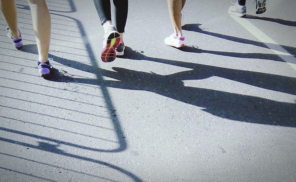 Walk Jog Marathon Morning Walk Rubbershoes Comfortable Shoes Health Shadow Fresh On Eyeem