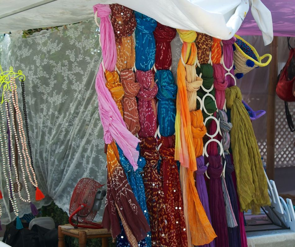 Bags Choice Collection Dresses Hanging Hippy Market Large Group Of Objects Las Dalias  Retail  hippy market San Carlis Ibiza Variation