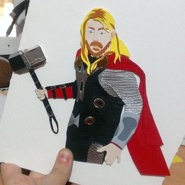 Thor  Cartulinas Trabajo Proyectos  Alfinloacabe Patrialonsoilustracion