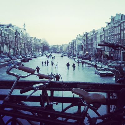 Winter in Amsterdam by Pureblending